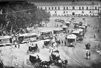 Zocalo de la ciudad de México en 1885